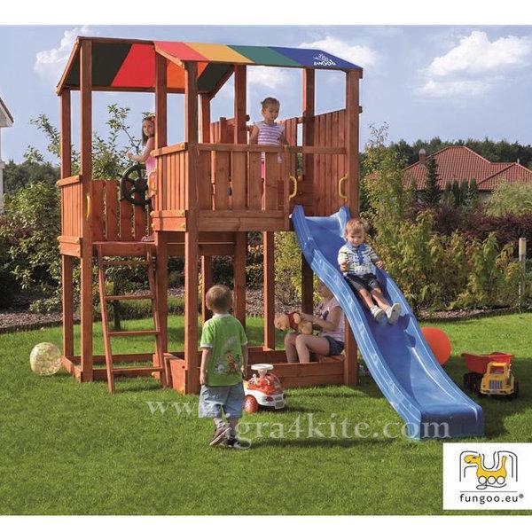 Fungoo - Детска площадка с пързалка и пясъчник Kingdom 01110