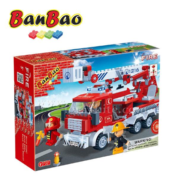 BanBao - Строител 5+ Пожарна кола 8313