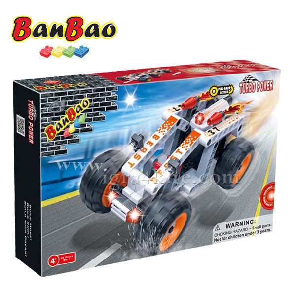 BanBao - Строител 4+ Автомобил Звяр 8617