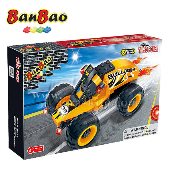 BanBao - Строител 4+ Автомобил Булдог 8618