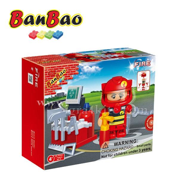 BanBao - Строител 4+ Пожарникар 8318