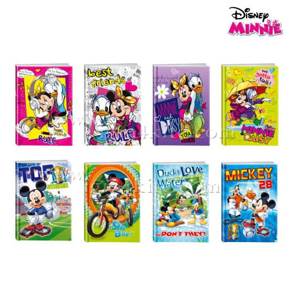 Disney Minnie Mouse - Тетрадка A5, 80листа Мики и Мини