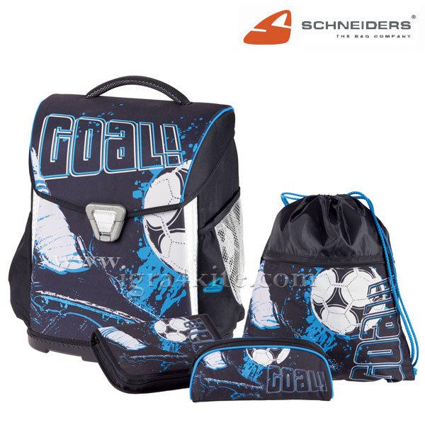 Schneiders - Ученическа ергономична раница комплект 4 части Goal 18204
