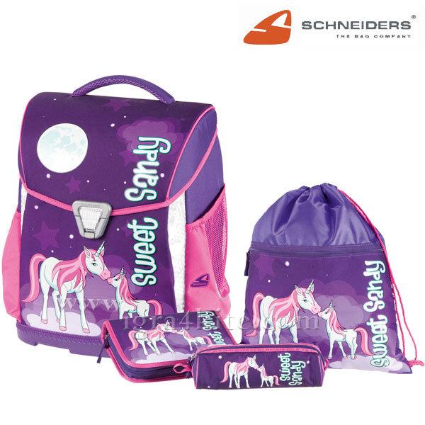Schneiders - Ученическа ергономична раница комплект 4 части Sweet Sandy 18207