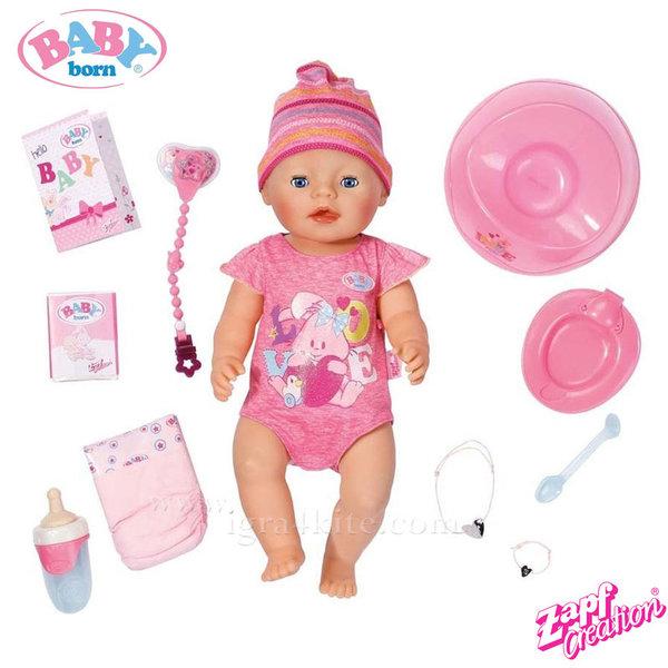 Zapf Creation - Baby Born Интерактивна кукла Бейби Борн с аксесоари 818695