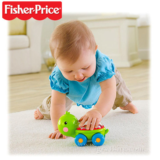 Fisher Price - Играчка за бутане Костенурка bgx29