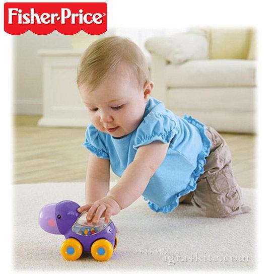 Fisher Price - Играчка за бутане Хипопотам bgx29