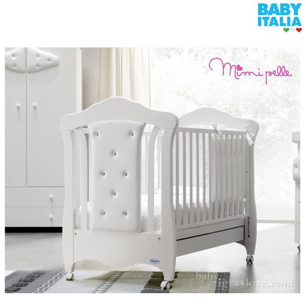 Baby Italia - Mimi pelle Детско легло кожа и кристали Swarovski