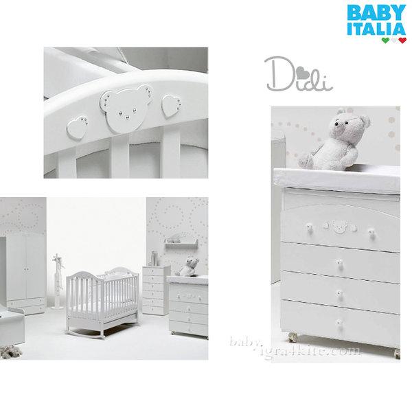 Baby Italia - Didi Детски скрин с вана и повивалник