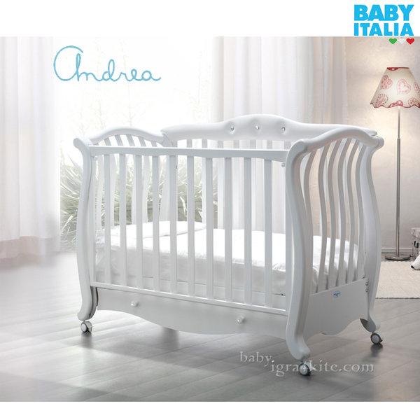 Baby Italia - Andrea Pelle Детско легло с кожа и кристали