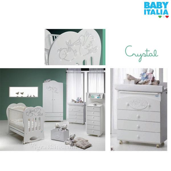 Baby Italia - Crystal Детски скрин с вана и повивалник