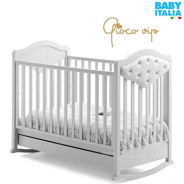 Baby Italia - Gioco Vip Детско легло с кожа и кристали Swarovski