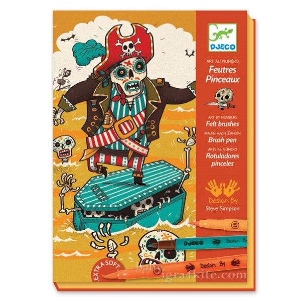 Djeco - Детски комплект за оцветяване страхотия 8645