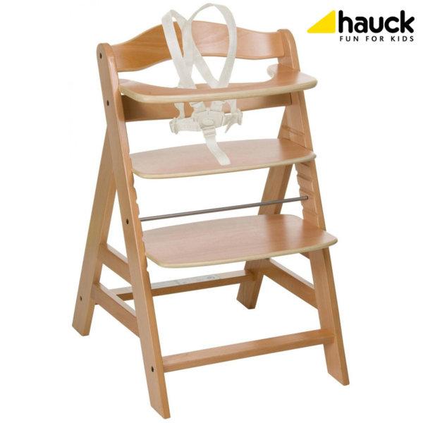 Hauck - Дървен стол за хранене Alpha+ Natur 661079