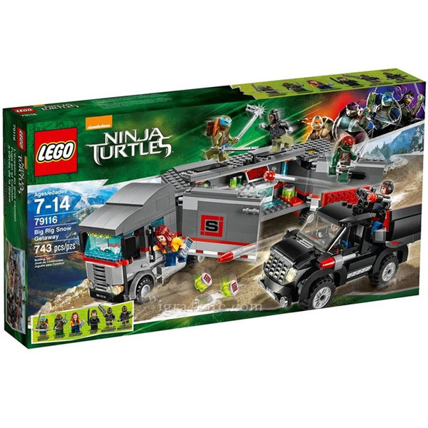 Lego 79116 Turtles Ninja - Снежно бягство с товарен камион