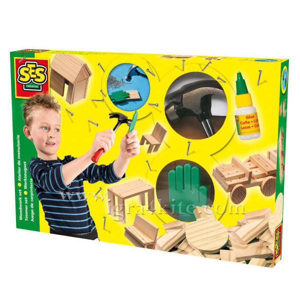 SES Creative - Комплект дървени фигури 00943