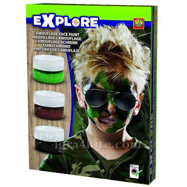 SES Creative Explore - Боя за лице камуфлаж 25045