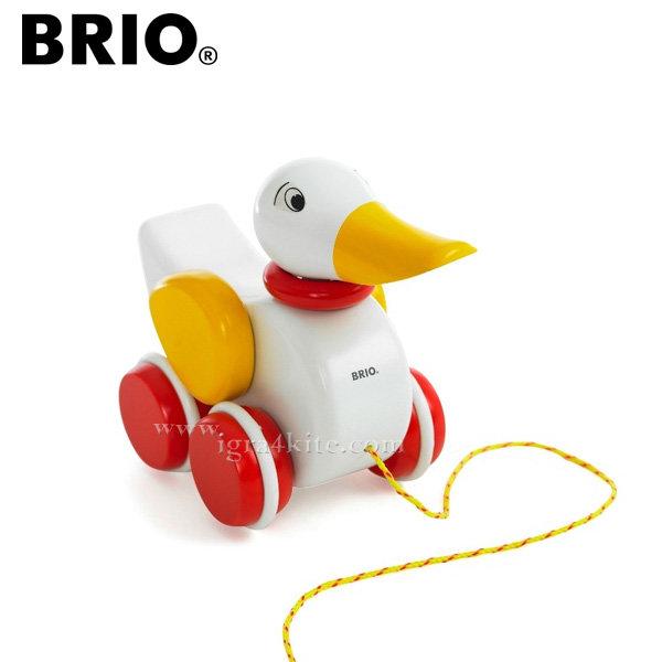 Brio - Дървена играчка за дърпане Пате 30323