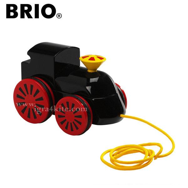 Brio - Дървена играчка за дърпане Локомотив 30304