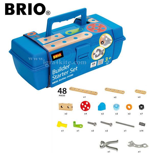 Brio - Дървен конструктор 48 части 34586