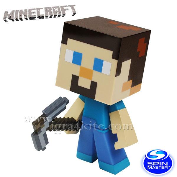 Minecraft - Колекционерска фигурка Стив и тревното кубче 6022579