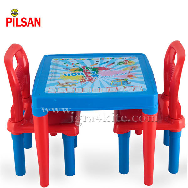 Pilsan - Детска маса с две столчета 03414 Синя