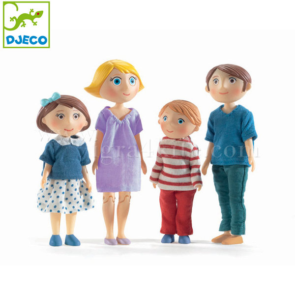 Djeco - Семейство кукли Gaspard and Romy DJ07811