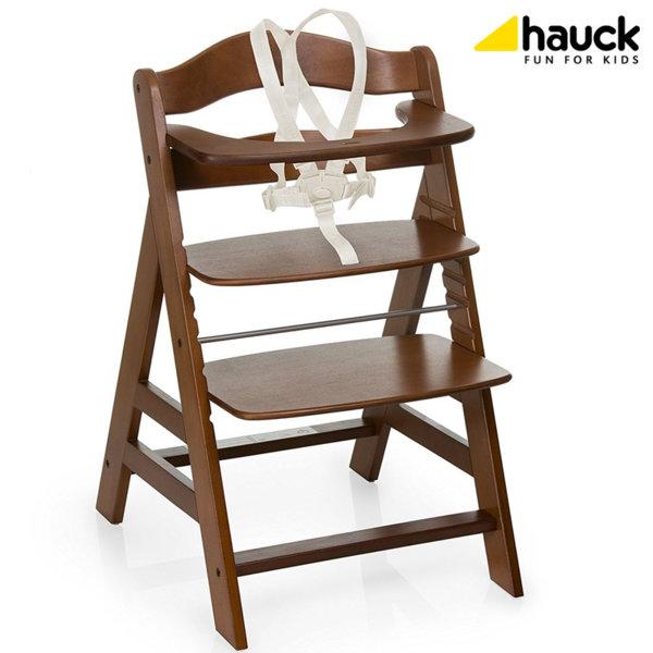 Hauck - Дървен стол за хранене Alpha+ Walnut 661130
