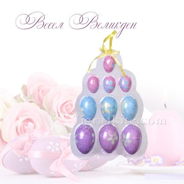 Великденска украса - Великденски яйца 10бр. 4344