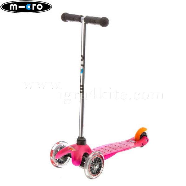 M-Cro - Детска тротинетка с три колела MINI MICRO PINK MM0002