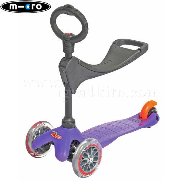 M-Cro - Детска тротинетка с три колела MINI MICRO PURPEL 3в1 MM0165