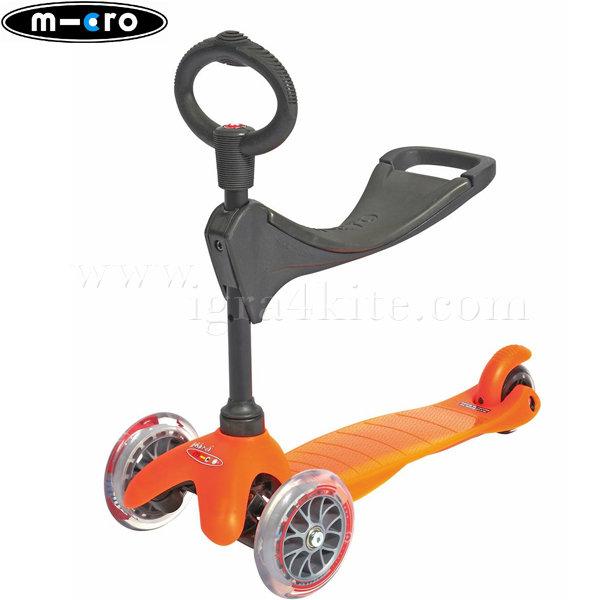 M-Cro - Детска тротинетка с три колела MINI MICRO ORANGE 3в1 MM0148