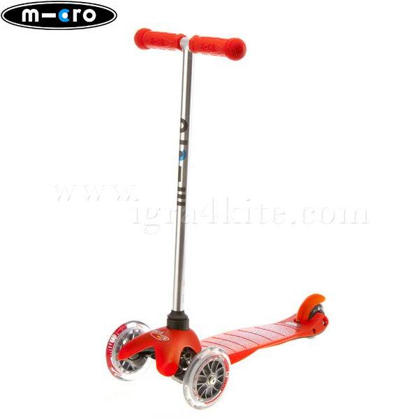 M-Cro - Детска тротинетка с три колела MINI MICRO RED MM0008