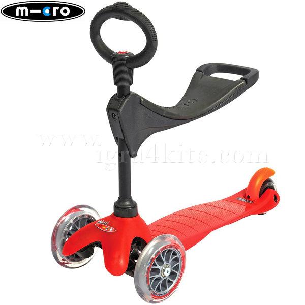 M-Cro - Детска тротинетка с три колела MINI MICRO RED 3в1 MM0146