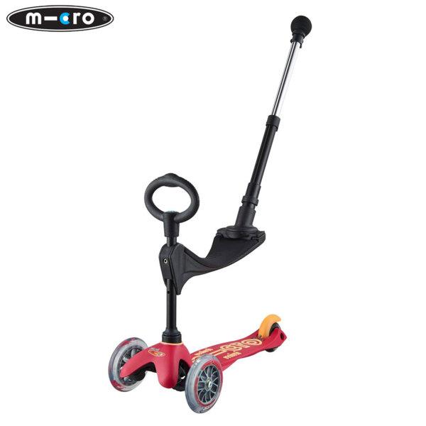 Micro - Детска тротинетка с три колела MINI MICRO 3в1 Deluxe Plus Rubine Red MMD056