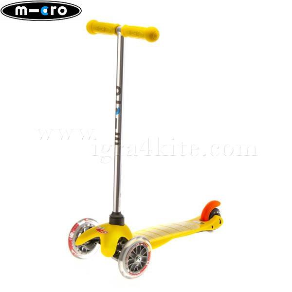 M-Cro - Детска тротинетка с три колела MINI MICRO YELLOW MM0009