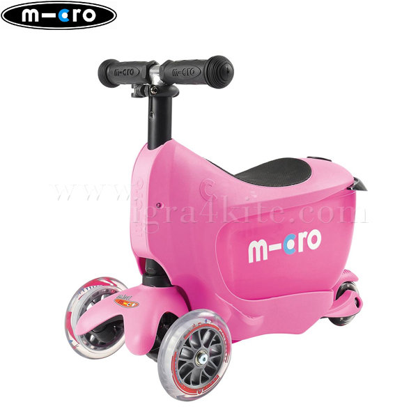 M-Cro - Детска тротинетка с три колела MINI2GO PINK MM0208