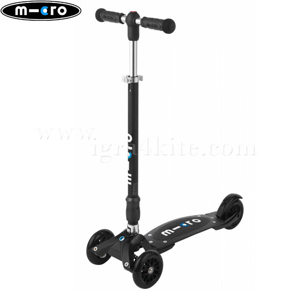M-Cro - Детска тротинетка с три колела KICKBOARD COMPACT BLACK KB0020
