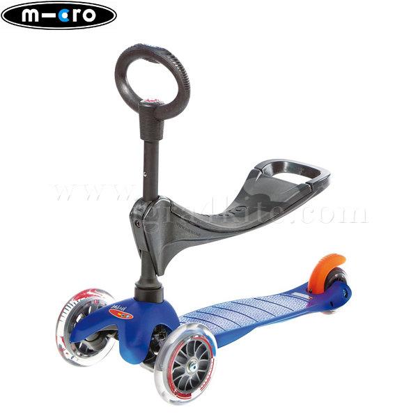 M-Cro - Детска тротинетка с три колела MINI MICRO BLUE 3в1 MM0086