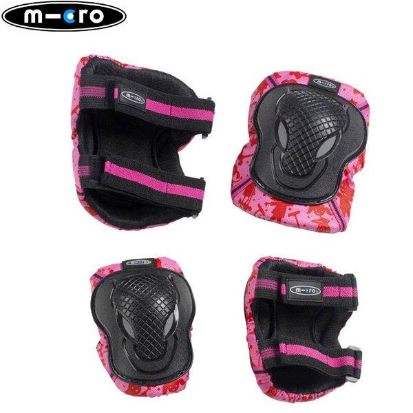 M-Cro - Наколенки и налакътници Micro Розов принт XS AC8010