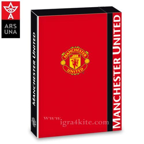 Manchester United - Кутия папка с ластик А4 Ars Una 90856693