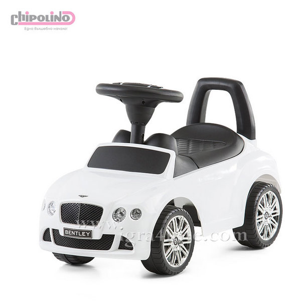 Chipolino - Кола за яздене Bentley Continental GT бяла