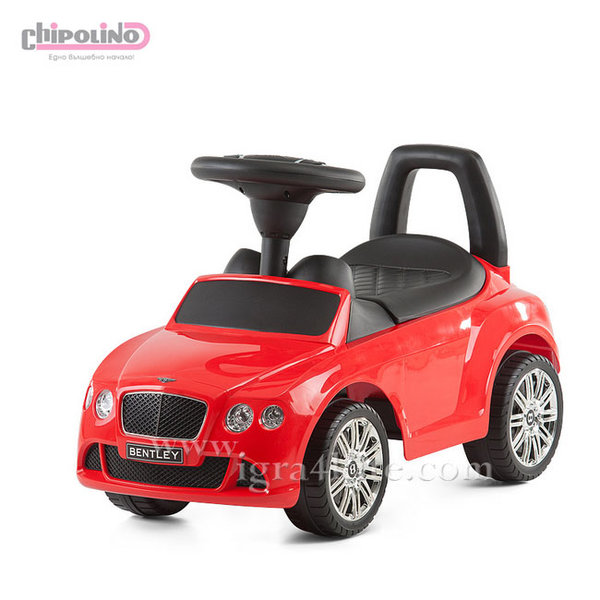 Chipolino - Кола за яздене Bentley Continental GT червена