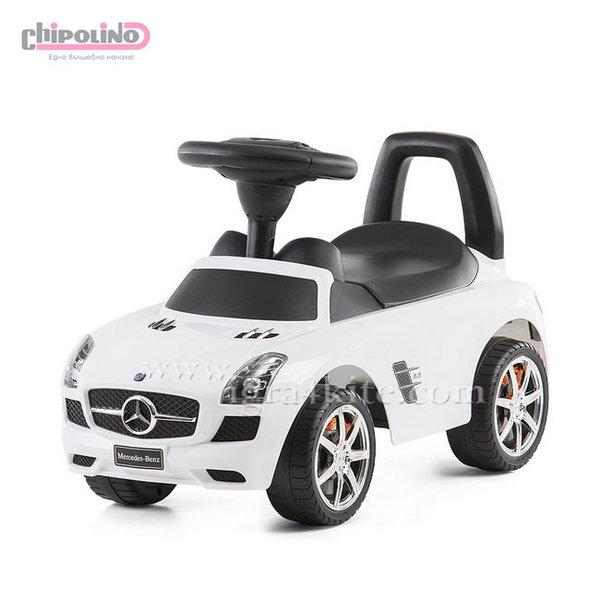 Chipolino - Кола за яздене Mercedes Benz SLS AMG бяла