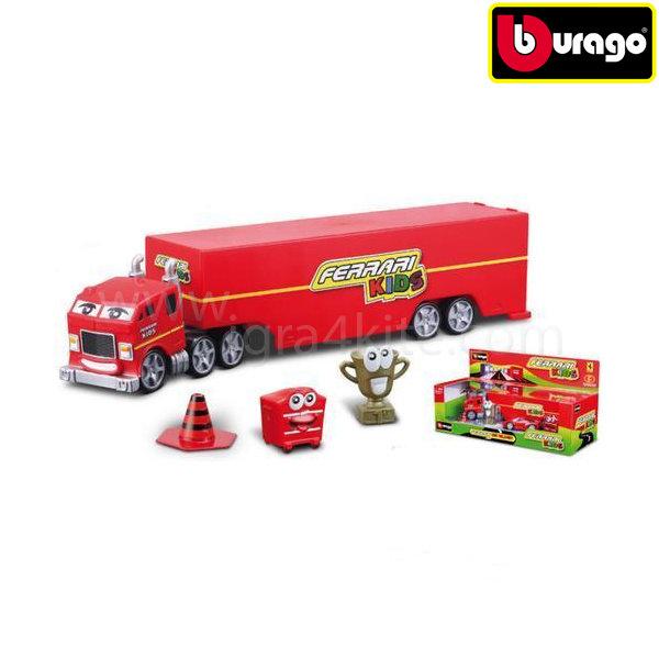 Bburago - Камион с ремарке и 1 бр. кола 093067