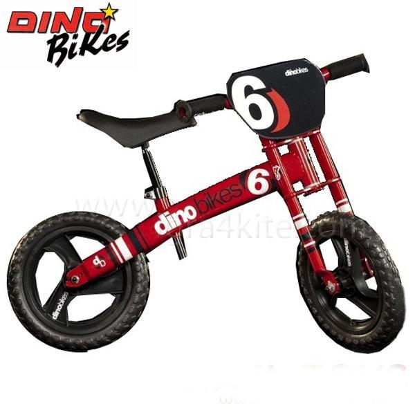 """Dino Bikes - Детско колело за баланс червено 12"""" 120115640"""
