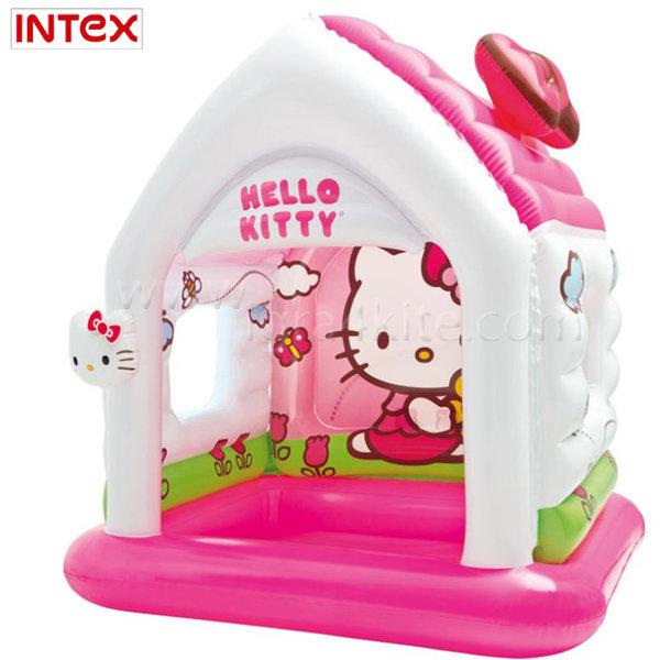 Intex - Надуваема къща за игра HELLO KITTY 48631