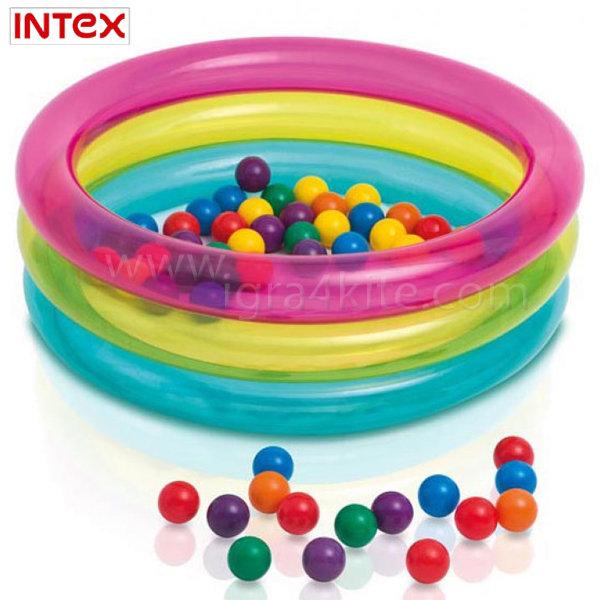Intex - Надуваем басейн за игра с топки 48674