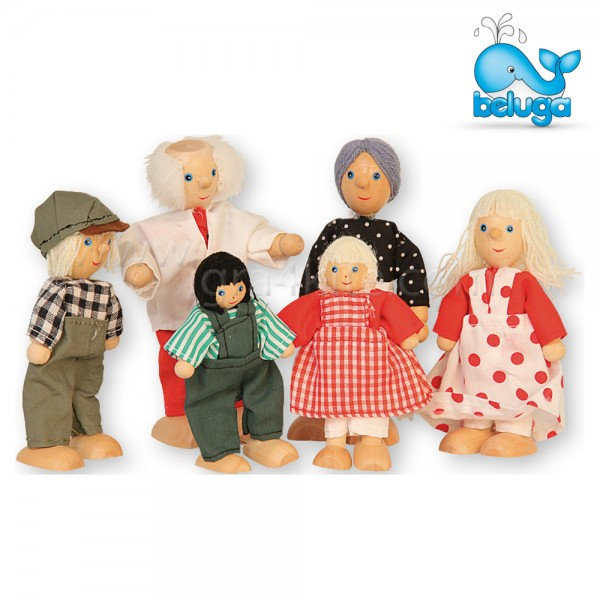 Beluga - Комплект дървени кукли 6 броя 70134