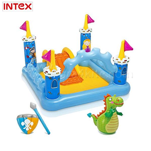Intex - Игрален надуваем център вълшебен замък 57138